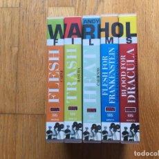 Cine: ANDY WARHOL, COLECCION 5 VHS, DIRIGIDO PAUL MORRISSEY. Lote 101131887