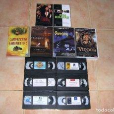 Cine: VHS TERROR 6 CINTAS . Lote 101139799