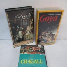 Cine: CHAGALL. VELAZQUEZ. GOYA. 3 VHS. VISUAL Y MUSEO DEL PRADO. VER FOTOGRAFIAS ADJUNTAS. Lote 101410455