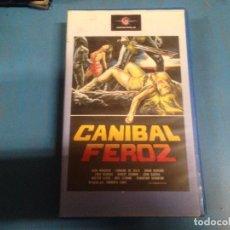Cine: PELICULA VHS DESCATALOGADA CANIBAL FEROZ. Lote 101475647