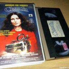 Cine: ASESINATO POR VENGANZA CLAUDIA- VHS- DIR: ANWAR KAWADRI. Lote 102374464