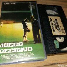 Cine: JUEGO DECISIVO- VHS- DIR: MARTIN BECK. Lote 102464004
