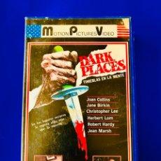 Cine: DARK PLACES - TINIEBLAS EN LA MENTE VHS - CHRISTOPHER LEE - JOAN COLLINS - TERROR BRITÁNICO. Lote 106668572