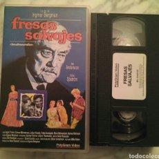 Cine: FRESAS SALVAJES VHS. INGMAR BERGMAN. CINE AUTOR SUECO. Lote 103346978