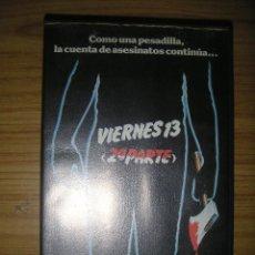 Viernes 13, 2ª parte (Steve Miner, 1981) VHS - terror - 1ª edición