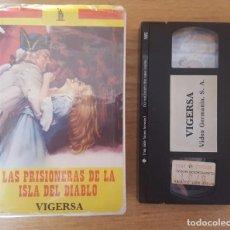 Cine: VHS - LAS PRISIONERAS DE LA ISLA DEL DIABLO. Lote 103680335