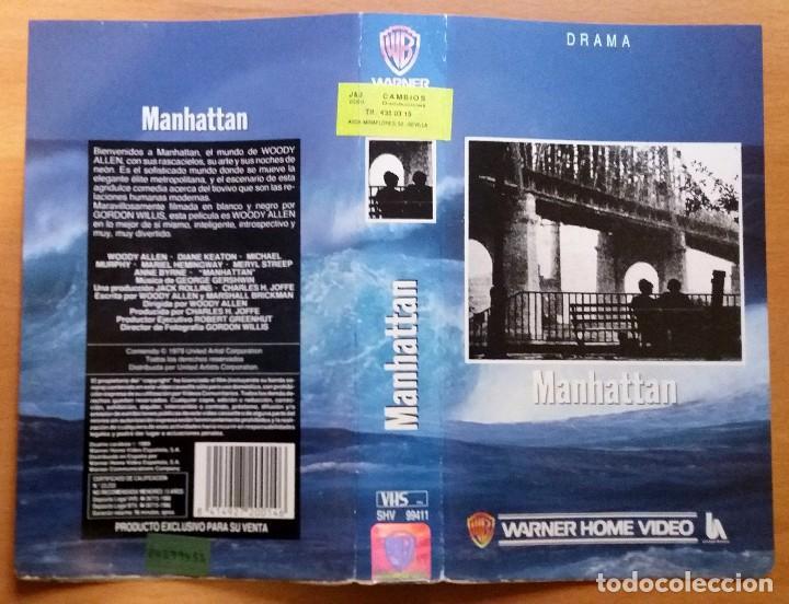 CARÁTULA DE VHS. MANHATTAN. WOODY ALLEN (Cine - Películas - VHS)