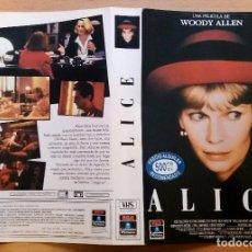 Cine: CARÁTULA DE VHS. ALICE. WOODY ALLEN. Lote 103702451
