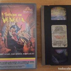 Cine: VHS - INTRIGA EN VENECIA - BORIS KARLOFF. Lote 104404303