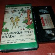 Cine: PERVERSION EN EL PARAISO- VHS- CLASIFICADO S- JAIME J. PUIG- DESCATALOGADA. Lote 104522016
