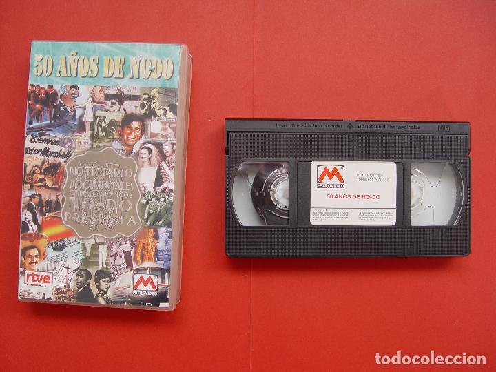 Cine: Cinta vídeo VHS: 50 AÑOS DE NO-DO (Metrovideo, 1994) ¡ORIGINAL! ¡COLECCIONISTA! - Foto 2 - 104595103