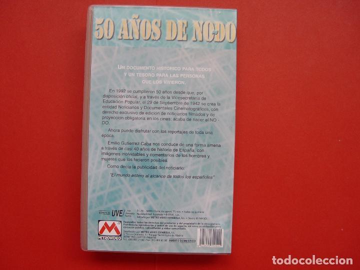 Cine: Cinta vídeo VHS: 50 AÑOS DE NO-DO (Metrovideo, 1994) ¡ORIGINAL! ¡COLECCIONISTA! - Foto 5 - 104595103