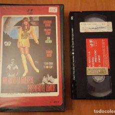 Cine: VHS - NO HAGO LA GUERRA, PREFIERO EL AMOR. Lote 104985259