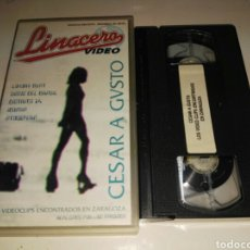 Cine: VHS- CESAR A GUSTO- LOS VIDEOCLIPS ENCONTRADOS EN ZARAGOZA- LUXURY BEAT NIÑOS DEL BRASIL. Lote 105252622