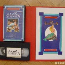 Cine: LOTE LIBRO Y CINTA VÍDEO VHS: LA SIRENITA (GLOBUS, 1994) ¡ORIGINAL! ¡COLECCIONISTA!. Lote 105351531