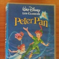 Cine: PETER PAN. WALT DISNEY LOS CLASICOS. PELICULA VIDEO VHS ANIMACION DIBUJOS ANIMADOS INFANTIL. Lote 105413607