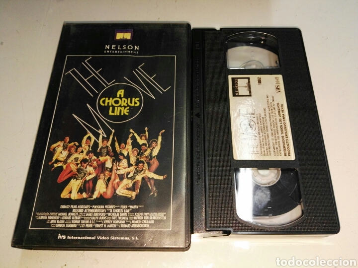 VHS- A CHORUS LINE THE MOVIE- MICHAEL DOUGLAS RICHARD ATTENBOROUGH (Cine - Películas - VHS)