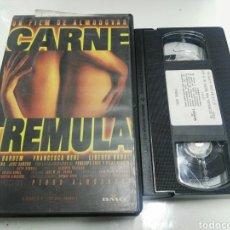 Cine: VHS- CARNE TREMULA- PEDRO ALMODOVAR JAVIER BARDEM (2). Lote 105838931
