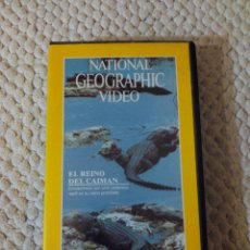 Cine: NATIONAL GEOGRAPHIC VIDEO 21 VHS EL REINO DEL CAIMAN. Lote 105875823