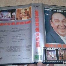 Cine: UNA VEZ AL AÑO NO HACE DAÑO VHS. Lote 105888003