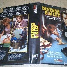 Cine: DEFENSA SIN LEY VHS. Lote 105888195