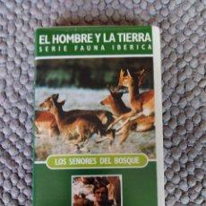 Cine: VIDEO VHS EL HOMBRE Y LA TIERRA SERIE FAUNA IBERICA LOS SEÑORES DEL BOSQUE. Lote 105891379
