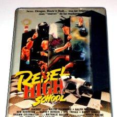 Cine: REBEL HIGH SCHOOL (1987) - HARRY JAKOBS WAYNE FLEMMING RALPH MILLMAN DAVID L. MCCALLUM VHS. Lote 106633203