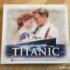 Cine: CAJA EDICION DE LUJO PELICULA TITANIC VHS CON NEGATIVO Y FOTOGRAFIAS ESPECIALES. Lote 106715331
