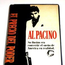Cine: EL PRECIO DEL PODER (1983) - BRIAN DE PALMA AL PACINO STEVEN BAUER MICHELLE PFEIFFER VHS 1ª EDICIÓN. Lote 107005639