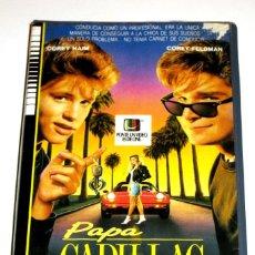 Cinema: PAPA CADILLAC (1988) - GREG BEEMAN COREY HAIM COREY FELDMAN CAROL KANE RICHARD MASUR VHS. Lote 107008439