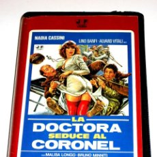 Cine: LA DOCTORA SEDUCE AL CORONEL (1980) - MICHELE MASSIMO TARANTINI LINO BANFI ALVARO VITALI VHS. Lote 107212927