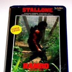 Cine: RAMBO ACORRALADO PARTE II (1985) - GEORGE PAN COSMATOS SYLVESTER STALLONE RICHARD CRENNA VHS. Lote 107214391