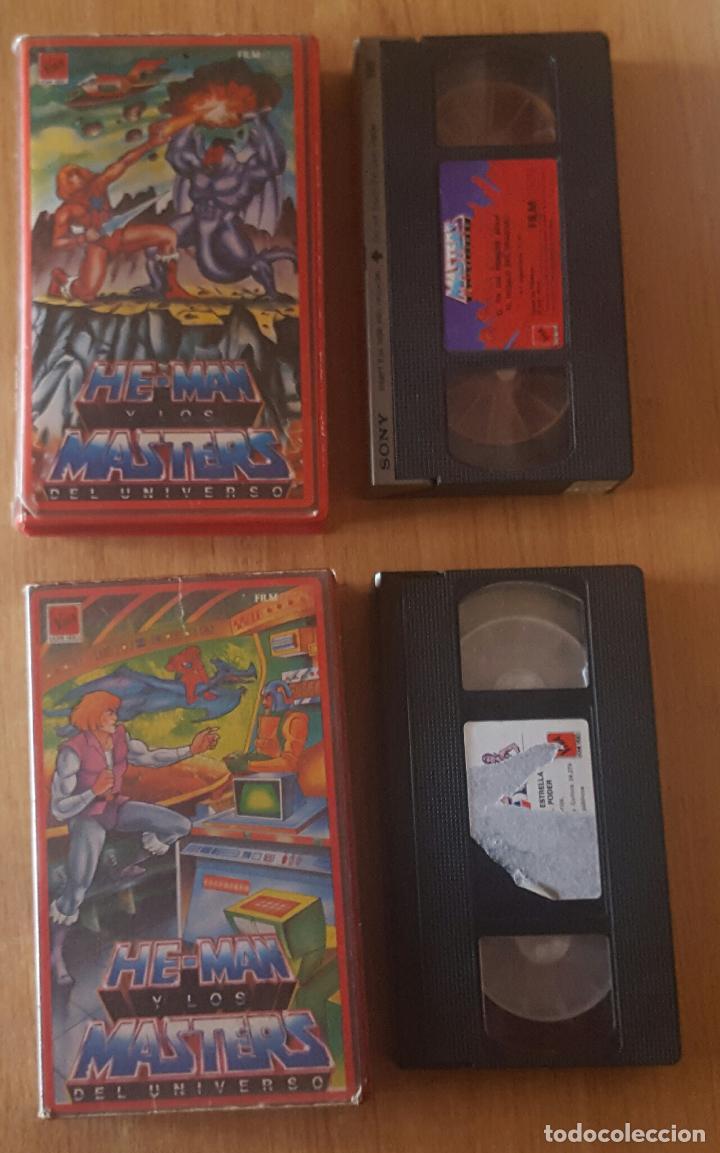 VHS - LOTE HE-MAN Y LOS MASTERS DEL UNIVERSO VOL. 4 Y 18 (Cine - Películas - VHS)
