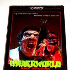 Cine: UNDERWORLD (MUNDO SUBTERRANEO) (1985) - GEORGE PAVLOU DENHOLM ELLIOT STEVEN BERKOFF VHS. Lote 107306651