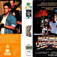 Cine: VHS - LA REBELION DE LAS MAQUINAS - EMILIO ESTEVEZ, STEPHEN KING - TERROR - 1º EDICION. Lote 107468095