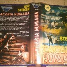 Cine: CACERÍA HUMANA, ROD STEIGER VHS. Lote 107652931