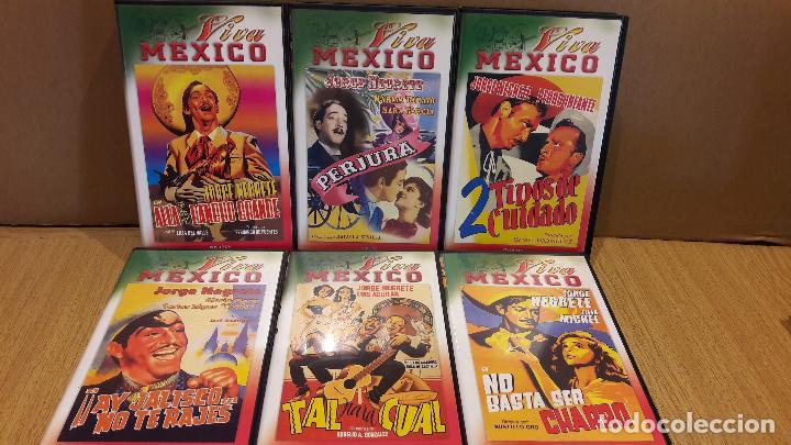 VHS !!! JORGE NEGRETE / INTERESANTE CONJUNTO DE 6 VHS - VIVA MÉXICO / VER TÍTULOS EN FOTOS. (Cine - Películas - VHS)