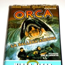 Cine: ORCA LA BALLENA ASESINA (1977) - MICHAEL ANDERSON RICHARD HARRIS CHARLOTTE RAMPLING BO DEREK VHS. Lote 108857047