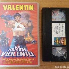 Cine: VHS - VALENTÍN UN HOMBRE VIOLENTO - CINE MEXICANO DE DROGAS Y DELINCUENTES!! VALENTÍN TRUJILLO. Lote 109167423