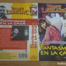 Cine: CARATULA VHS - FANTASMAS EN LA CASA. Lote 109263271