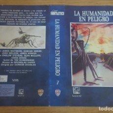 Cine: CARATULA VHS - LA HUMANIDAD EN PELIGRO. Lote 109356083