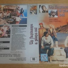 Cine: CARATULA VHS - UN FANTASMA A PLENO SOL. Lote 109364443