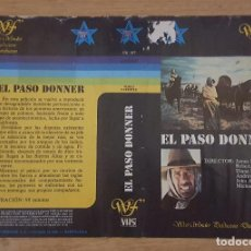 Cine: CARATULA VHS - EL PASO DONNER - WESTERN. Lote 109409103