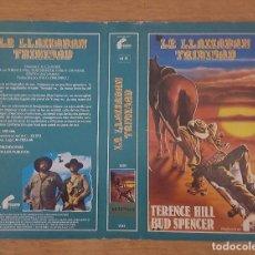 Cine: CARATULA VHS - LE LLAMABAN TRINIDAD. Lote 109409159