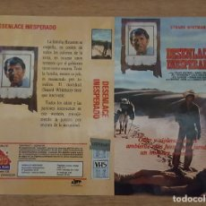 Cine: CARATULA VHS - DESENLACE INESPERADO. Lote 109409195