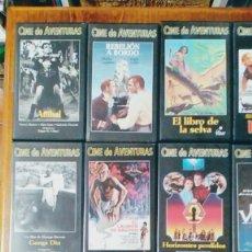Cine: CINE DE AVENTURAS COLECCION ALTAYA 41 VHS + 2 LIBROS 41 FASCICULOS NUEVO SIN USO AÑO 2000. Lote 110110059