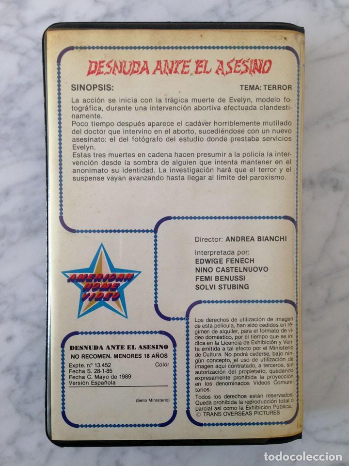 Pelicula Vhs Desnuda Ante El Asesino Andrea Bianchi Edwige Fenech Nino Castelnuovo