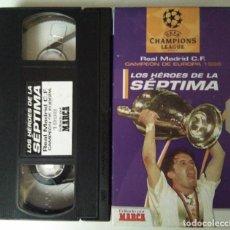 Cine: LOS HEROES DE LA SEPTIMA - REAL MADRID C.F. CAMPEON DE EUROPA 1998. Lote 111529927