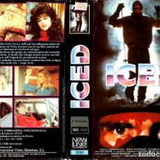 Cine: VHS - ICED - DEBRA DELISO, DOUG STEVENSON - TERROR, SLASHER, SERIE B. Lote 111732615