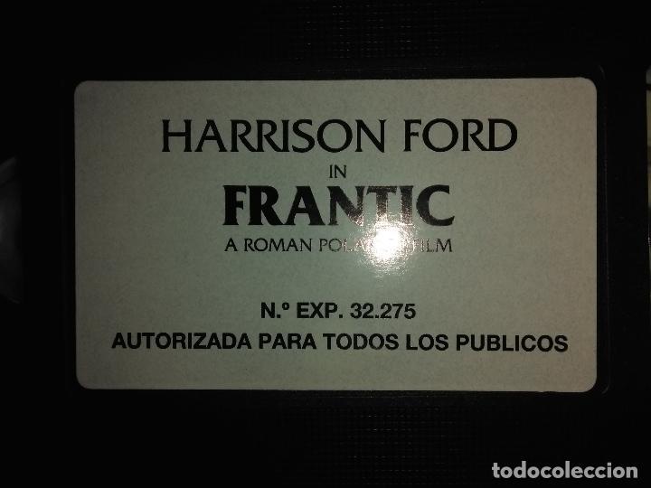 Cine: FRANTIC (V.O.)HARRISON FORD_Spanish Edition 1989 Warner Bross. LIKE NEW!! - Foto 3 - 112796191